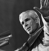 Archbishop Fulton Sheen preaching
