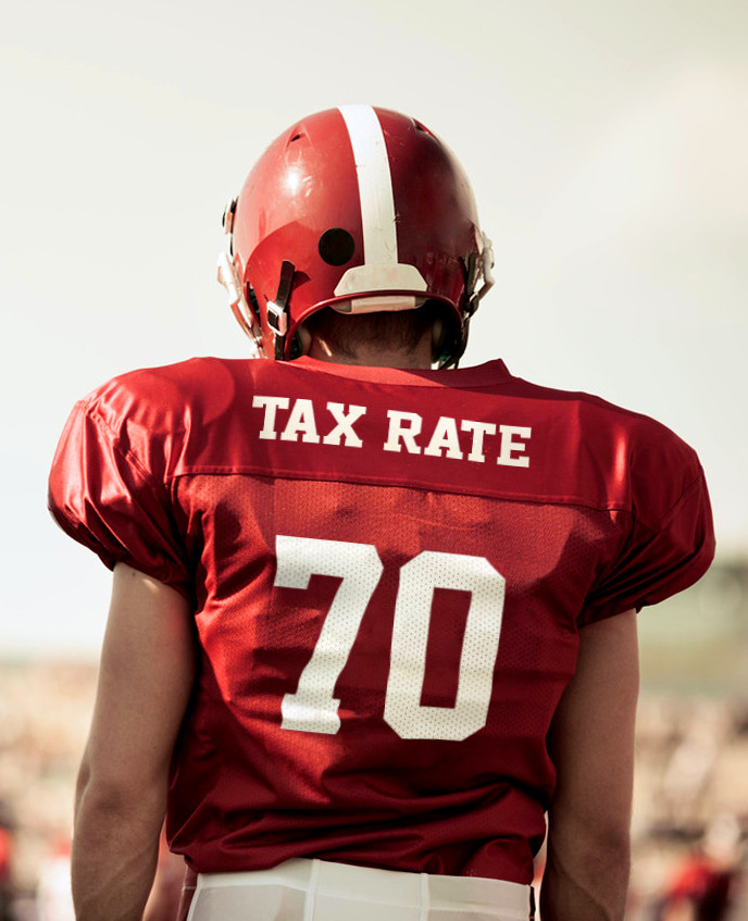 football player number 70 named tax rate